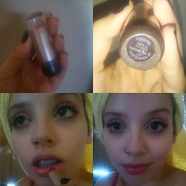 Maquiagem básica para o dia a dia! Blog Insaturada! Batom usado!