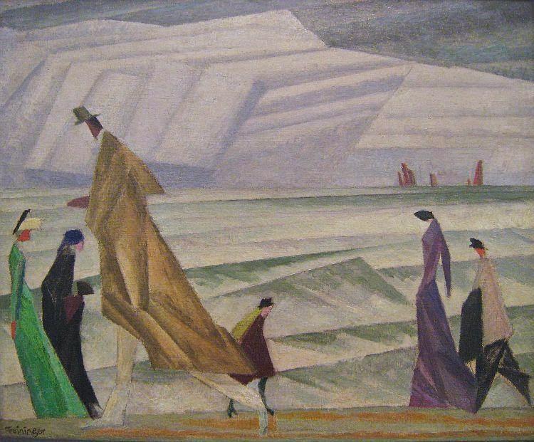 Lyonel Feininger - Am Strande, 1913