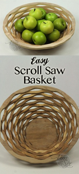Easy DIY Scroll Saw Basket from a Single board