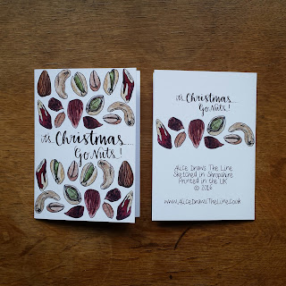 It's Christmas...Go Nuts! :: www.AliceDrawsTheLine.co.uk