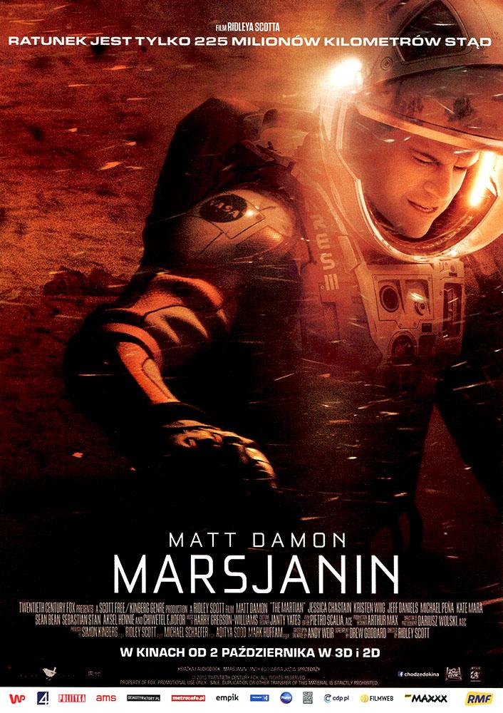 Ulotka filmu 'Marsjanin (przód)'