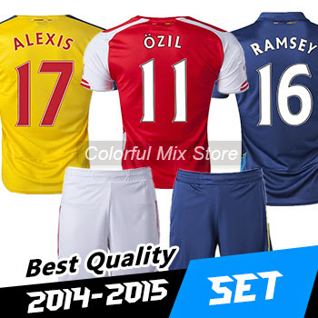Free Shipping 2015 ASL kits Football kits OZIL ALEXIS R