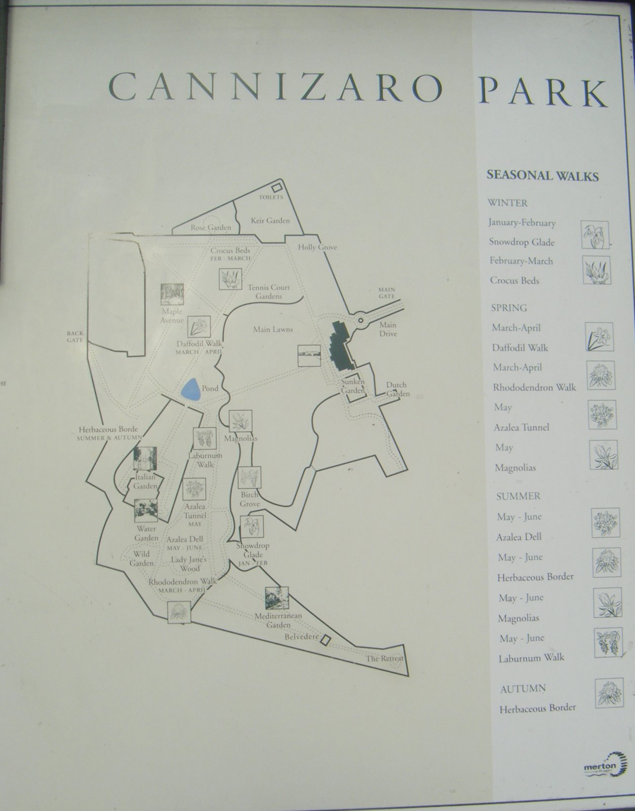 DSCF1526 Map of Cannizaro Park