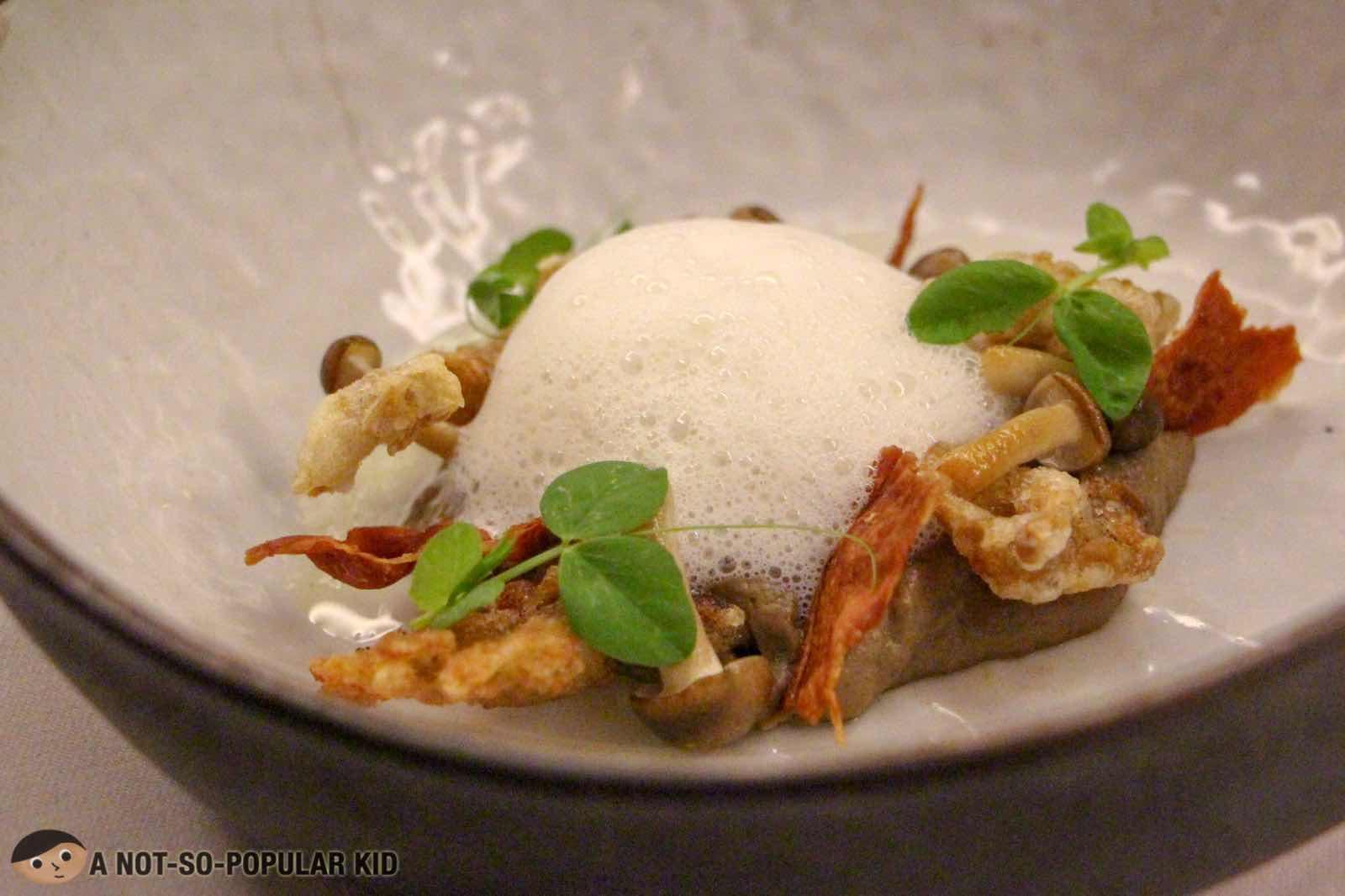 Mushroom and Egg of FOO'D by Davide Oldani
