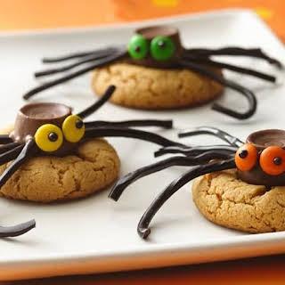 Peanut Butter Spider Cookies.