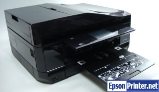 How to reset flashing lights for Epson XP-850 printer