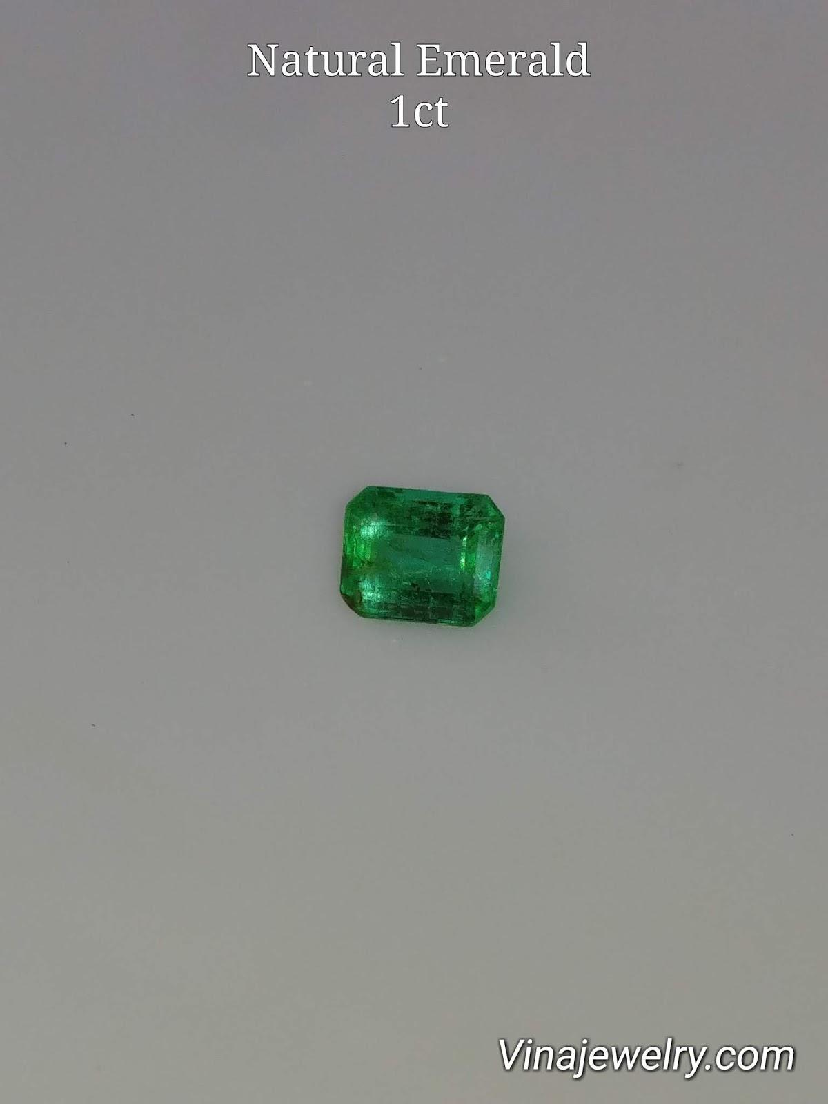 Đá quý Ngọc Lục Bảo, Natural Emerald hình dạng chữ nhật 1ct