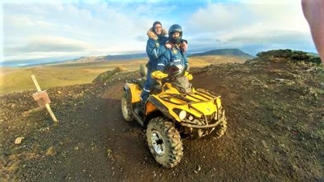 ATV tour from Grindavik Iceland volcanic mountains and fields