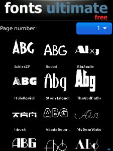 Font Ultimate v2.8 BlackBerry Apps