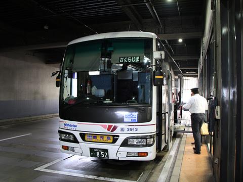 西鉄高速バス「桜島号」昼行便 3913 博多バスターミナル改札中