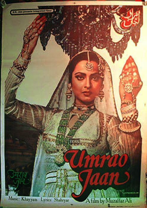"A poster from the movie ""Umrao Jaan"" was auctioned, as a memorabilia."