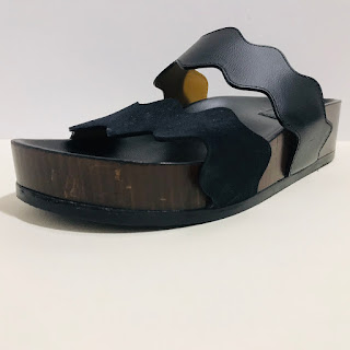Chloé Black Leather Slides