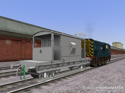 Fastline Simulation: Baked CAR Brake Van in RailWorks