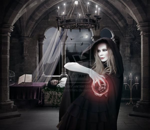 Dark Witch With A Red Sphere