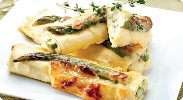 Cannelloni agli asparagi e montasio