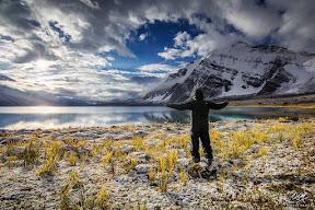A beautiful morning at Karomber Lake with fresh snowfall
