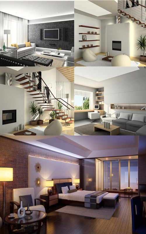 Stock Photo: Modern interior 5