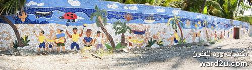لوحات من الفسيفساء تزين مدينة Jacmel