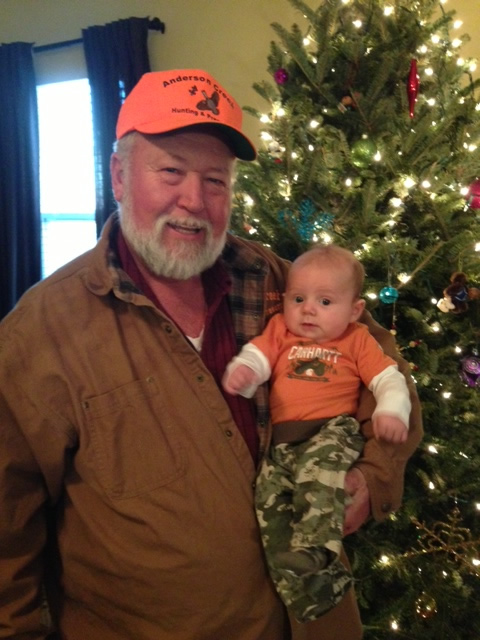 James and grandson  Nolan.  The next generation of hunter at Anderson Creek  Hunting  Perserve