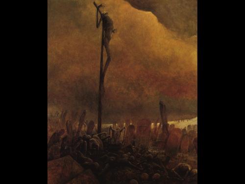 Zdzislaw Beksinski Dead God, Death