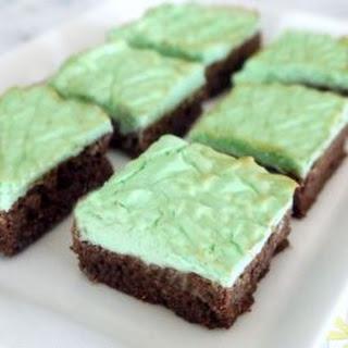 Low Carb Mint Chocolate Cheesecake Brownie Bars