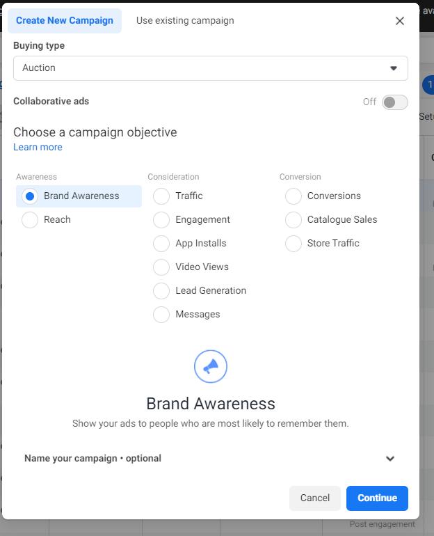 iklan Brand Awareness di Facebook Ads