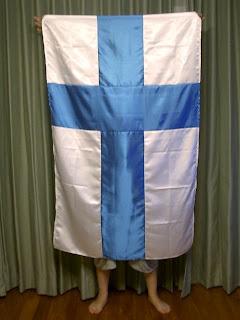 手作りフィンランド国旗