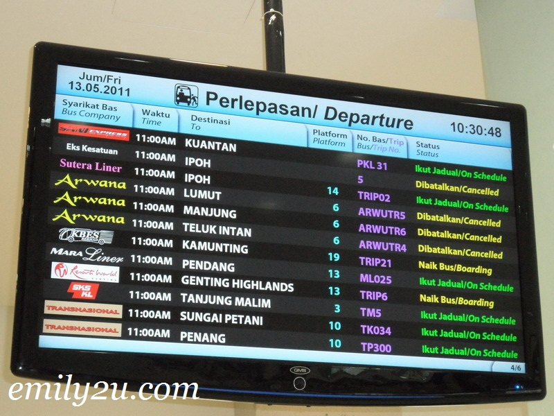 bus information panels