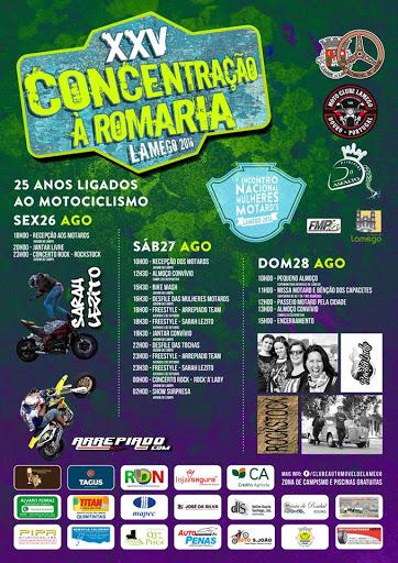 Programa da XXV Concentração Motard à Romaria – Lamego – 2016