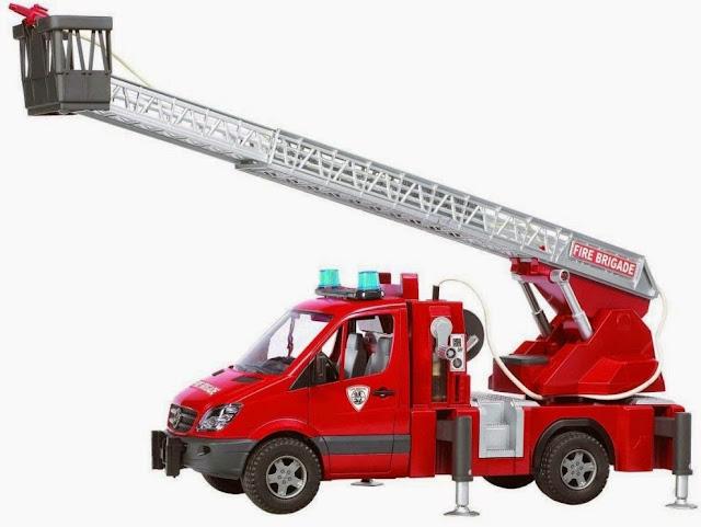 Chiếc Xe cứu hỏa có thang BRU02532 màu đỏ thật đẹp mắt