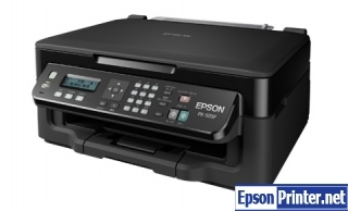 How to reset flashing lights for Epson PX-505F printer