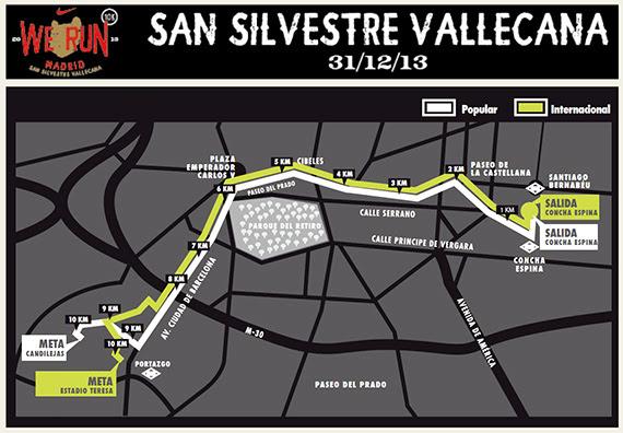 XLIX San Silvestre Vallecana Internacional y XXXVI Popular