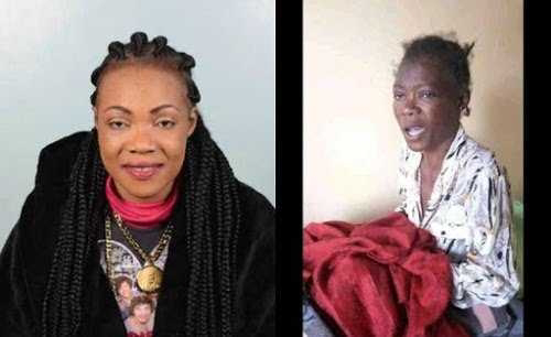 Lady Maureen before and after being released from the hospital. PHOTO | NMG