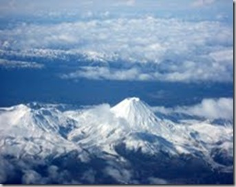 mt Ngauruhoe from  the air