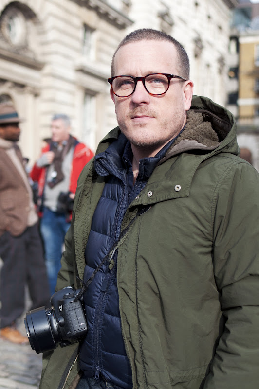 Scott Schuman, aka The Sartorialist, at London Fashion Week