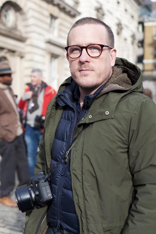 Scott Schuman, aka The Sartorialist, at London Fashion Week