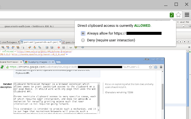 Clipboard Permission Manager