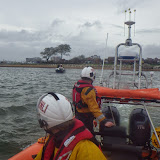 The tow commences - 17 October 2014.  Photo credit: RNLI/Poole