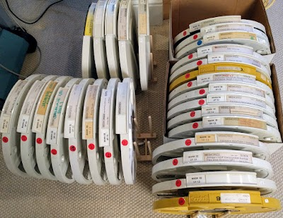 Some of the disks from Xerox PARC that we're archiving.