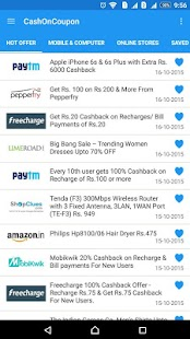 Cash On Coupon -Extra Cashback- screenshot thumbnail