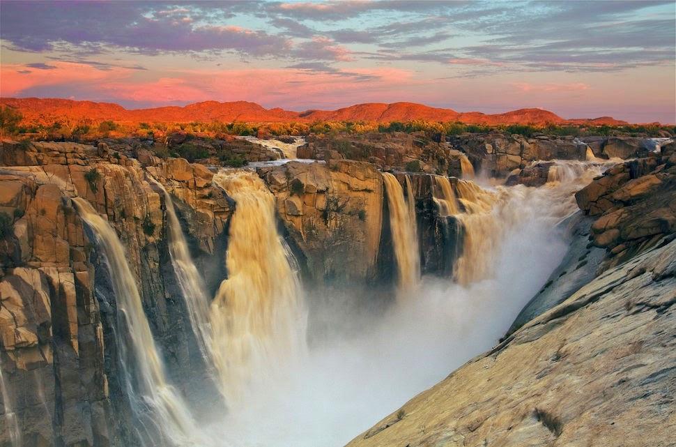 Ауграбис, Южная Африка, Красивые водопады планеты
