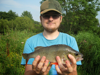 ashley caught this Perch at the Reed Ponds