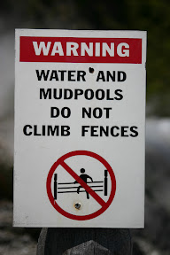 Watch out for those climbing mudpools