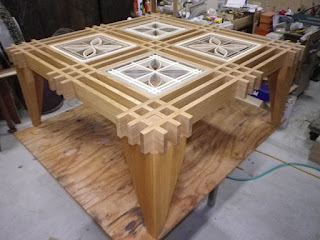 オーダ家具 組子テーブル簡単組み立て式