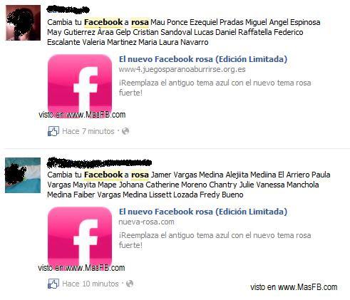 Nuevo Facebook Rosa