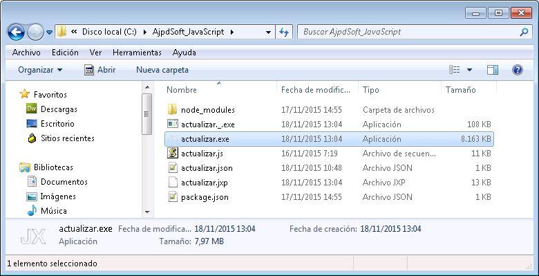 Cómo generar un ejecutable a partir de un JavaScript con JXcore y Node.js