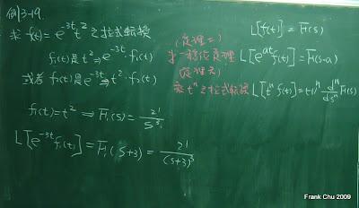 例3-19: 套用第一移位定理