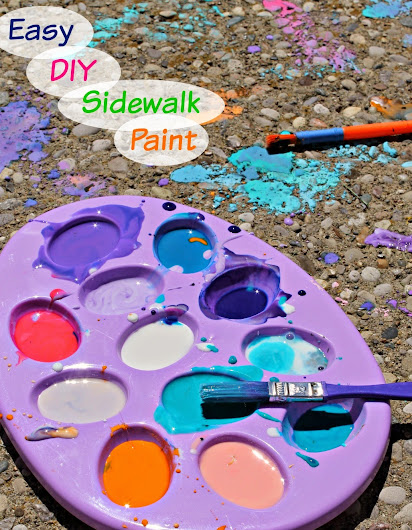 Easy DIY Sidewalk Paint Tutorial
