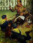 """""""The Adventure Trail"""" Norman Rockwell -1952"""