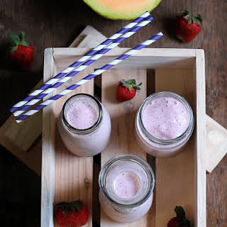 Melon Strawberry Smoothie.